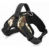 CGDZ Hundehalsband Blei 4 Farben S/M/L/XL Großer Hund weich einstellbar Haustier Walking Harness Handschlaufe Weste Kragen Hund Weste für das Training M Armee grün