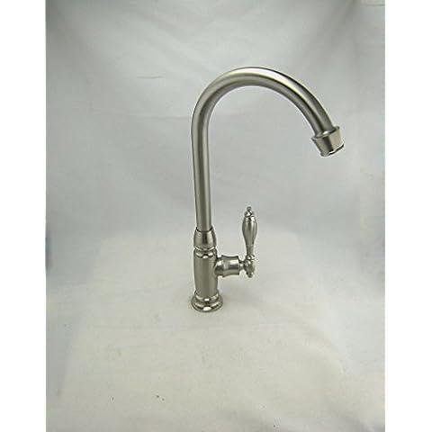 Furesnts casa moderna cucina e il lavandino del bagno rubinetti fare clic su l'acqua fredda-dragon singolo spazzolato per lo styling-chiave il lavandino del bagno rubinetti,(Standard G 1/2 tubo flessibile universale porte)