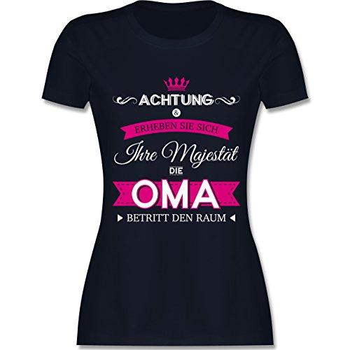 Oma - Ihre Majestät die Oma - M - Navy Blau - L191 - Damen Tshirt und Frauen T-Shirt