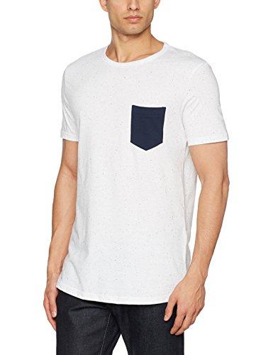 TOM TAILOR Denim Herren T-Shirt Napyarn Tee with Pocket Blau (black iris blue 6740)