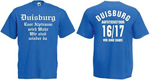 Duisburg Aufstiegs-Tour T-Shirt von S-XXXL Austeiger 2016/17 Blau