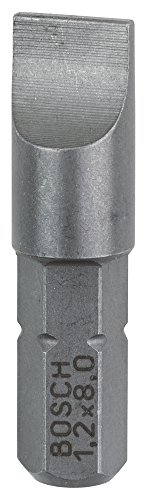 Preisvergleich Produktbild Bosch Pro Bit Extra-Hart für Längsschlitz-Schrauben (S1,2 x 8,0; Länge: 25 mm, 3 Stück)