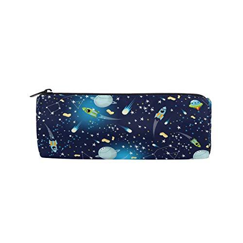 Bonipe Galaxy Weltraum Rocket Planet Federmäppchen Tasche Schule, Schreibwaren, Stiftebox Reißverschluss Kosmetik Make-up Tasche