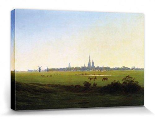 1art1 57229 Caspar David Friedrich - Wiesen Bei Greifswald, 1822 Poster Leinwandbild Auf Keilrahmen...