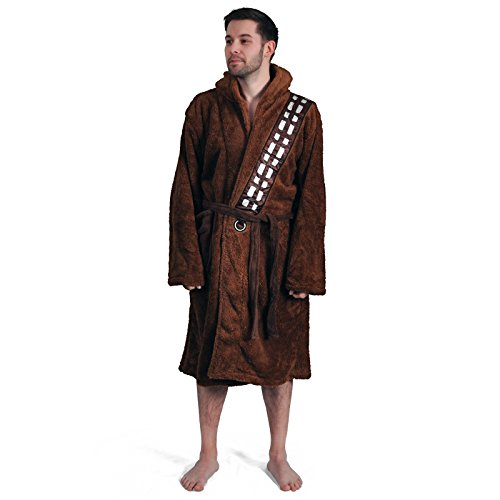 Star Wars Chewbacca Adult Faux Fur and Fleece Bathrobe Star Wars Chewbacca Fleece