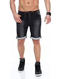 SUBLEVEL Herren Sweat Short Jeans Bermuda Jogging Short kurz Sommerhose 18KD84