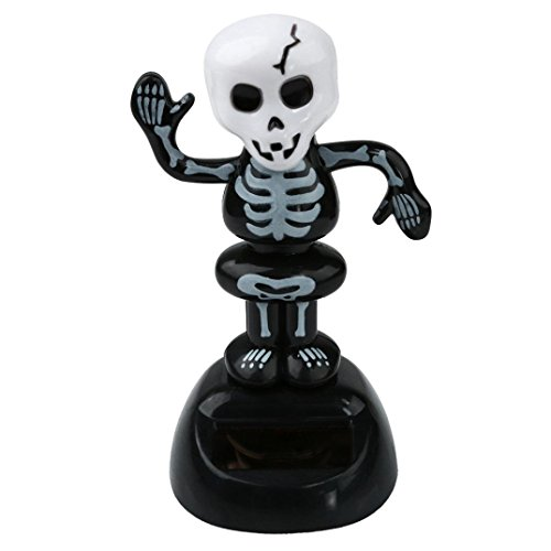 Price comparison product image WINWINTOM Solar Powered Dancing Halloween Swinging Animated Dancer Toy Car Decor (Multicolor A)