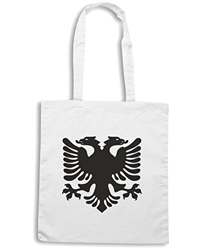 T-Shirtshock - Borsa Shopping TM0150 albanian eagle flag of albania flag Bianco