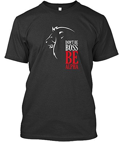 A.P. Donovan T-Shirt für Männer - Don't be boss, be Alpha - weiches Material - in den Größen M, L, XL - Siebdruck - V-Ausschnitt - mit Motiv Löwe - Schwarz