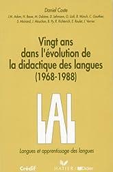 Vingt ans dans l'évolution de la didactique des langues : 1968-1988