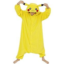 Pijama de Traje de Cosplay de Animal Adulto,Pikachu,XL