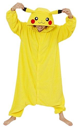 Erwachsene Tier Cosplay Kostüm Pyjamas,Pikachu,S