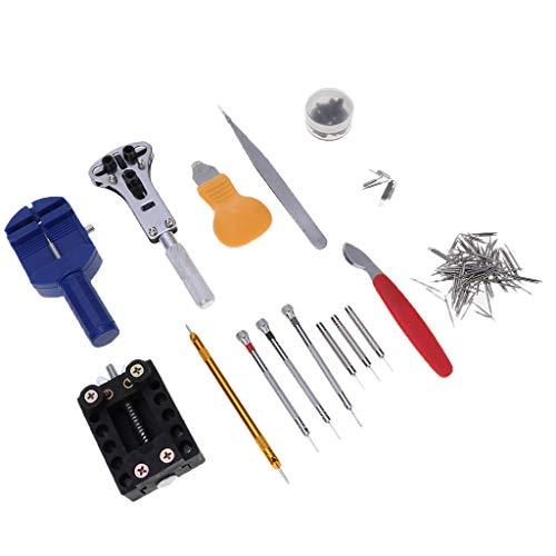 sharprepublic 144 Stücke Uhr Repair Tool Kit Band Strap Link Remover Zurü Öffner Schraubendreher