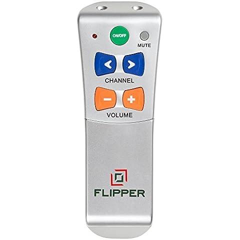 Flipper - Mando a distancia con botones grandes para UK / EU