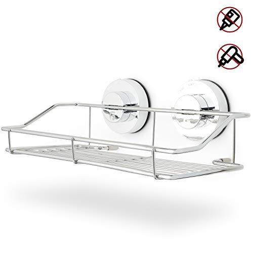 GranFore Duschregal - Stylische Duschablage ohne lästiges Bohren - Duschregal mit Saugnapf - Praktisches Badezimmer Regal - Duschablage zur einfachen Aufbewahrung