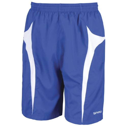 Spiro - Pantaloncini Sportivi Leggeri - Uomo Blu navy/Bianco