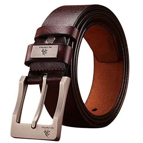 De Alta Calidad - Cinturón De Lujo - Cuero Auténtico - Correa - Hombre - Hombre - Hombres - Cinturones - Moda - Diseño - Clásico - Vintage - Hebilla - Presente De Cumpleaños - Regalo - Duradera
