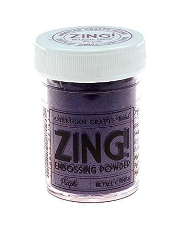 American Crafts 1-Piece 1 oz Zing Metallic Embossing Powder, Purple