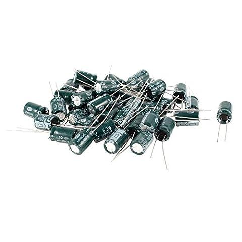 1000uF Elektrolytkondensatoren - TOOGOO(R)40 Stueck 1000uF 6.3V 105 Celsius Radial-Elektrolyt-Kondensatoren Dunkelgruen 8x12mm
