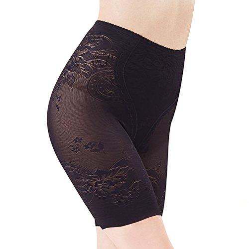 Tinksky Frauen kurze Gamaschen Breathable Unterwäsche Shorts Boyshort Panty unter Rock Shorts für Kleid Größe XXL (schwarz) -
