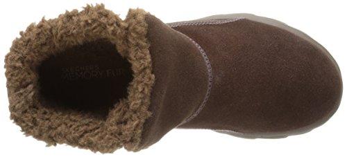 Skechers Go Walk Movechugga Imprint, Bottines sans doublure intérieure femme Marron - Marron (chocolat)
