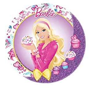 BARBIE CAKE TOPPER 21 CM EDIBLE WAFER RICE PAPER II CUP CAKE TOPPERS BIRTHDAY PARTY KIDS