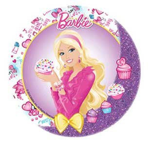 BARBIE CAKE TOPPER 21 CM EDIBLE WAFER RICE PAPER II CUP TOPPERS BIRTHDAY PARTY KIDS WEDDING DECORATION