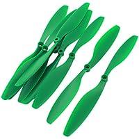 Sourcingmap - Rc Multirotore Parte Verde Plastica 2 Lame Cw/Ccw Elica 1045 4Pair
