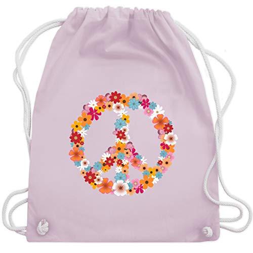 eace Flower Power - Unisize - Pastell Rosa - WM110 - Turnbeutel & Gym Bag ()