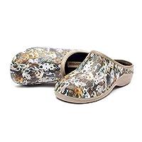 Womens Comfortable Slip On Garden Clogs Shoes, Dog, UK 6 / EU 39