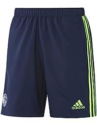 Schalke 04 Wov Sho adidas Short pour homme Bleu/Vert
