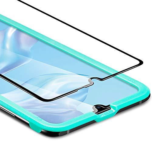 Protetor de Tela ESR para Huawei P30, Protetor de Tela de Vidro Temperado [Proteção 3D + Proteção Máxima] [Cobertura de Tela Cheia], para Huawei P30