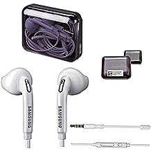 Samsung Teléfono móvil estéreo premium Headset en la Samsung Jewel Case Box–Auriculares in-ear–Manos Libres–En Color Blanco para el Samsung COMPATIBLES CON teléfonos móviles con jack de 3,5mm