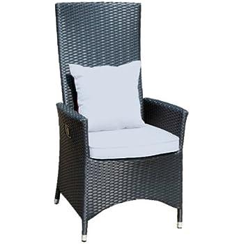 ambientehome verstellbarer polyrattan sessel stuhl nairobi schwarz. Black Bedroom Furniture Sets. Home Design Ideas