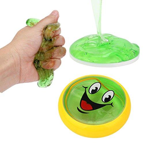 lamm, mamum schlamm formbare Polymer weichem Ton Blocks Knetmasse Stress Relief Toys weiß/rot/lila/gelb/grün/blau Einheitsgröße grün (Baby Fußabdruck Cutter)