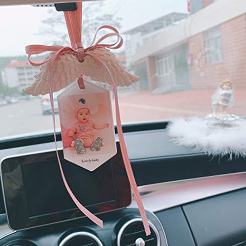 HYwot Ciondolo Deodorante per Auto, Personalizzazione Fotografica Decorazioni per Interni Auto Creativa Decorazione sospesa, Accessori per Ornamenti Auto,B