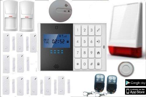Alarm Wireless GSM komplett getimed Kit Alarmanlage Haus Shop Steuerwalze GSM Wireless Remote-Kontrolle mit Schutzhülle