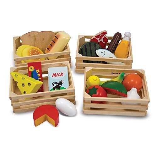 Melissa & Doug Nahrungsmittelgruppen aus Holz (21 Teile) (Zubehör Küche Spielzeug)