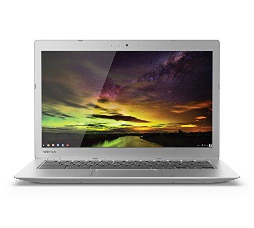 Toshiba CB35-B3340 13.3 Inch Chromebook (Intel Celeron, 4GB, 16GB SSD, Silver) Full HD-Screen image