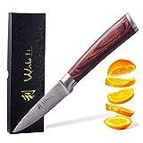 Wakoli Edib Damastmesser - sehr hochwertiges Profi Messer mit Edelholz Griff mit Damast...