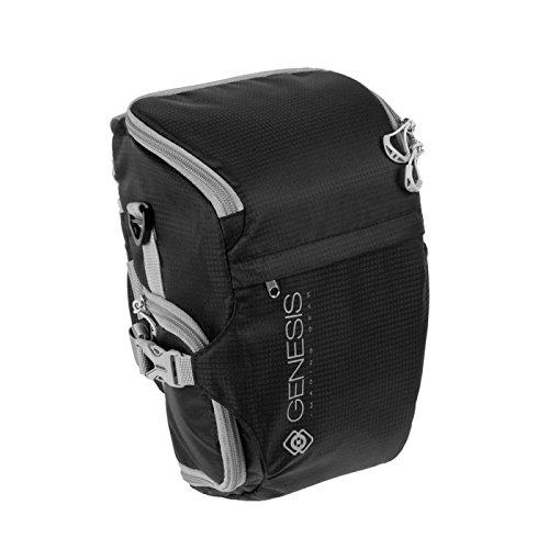 Genesis Rover Colttasche schwarz für DSLR Kamera, Systemkamera (wasserabweisende Bauchtasche, Zubehörtasche, Schnellzugriff)
