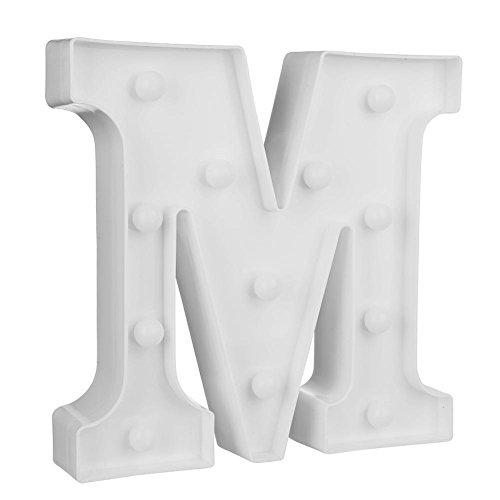 3D-Buchstabe LED Nachtlicht Wandbehang Partyzelt Schild Alphabet Deko Lampe M (3d Alphabet Buchstaben)