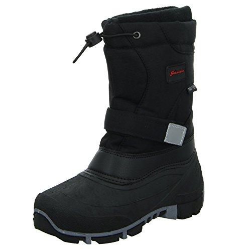Sneakers ZW-003 Jungen Allwetterstiefel Warmfutter Funktionsmembran Schwarz (Schwarz)