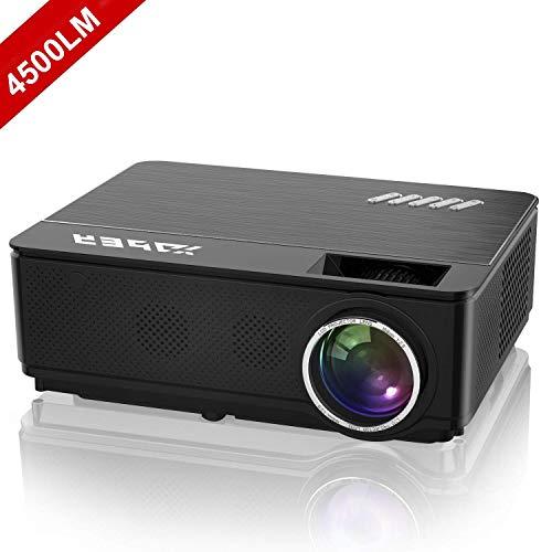 YABER Proyector Soporta Full HD 1080P 4500 Lúmenes