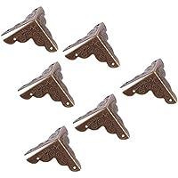 Asixx 12 Piezas Protección de Esquina, Preoteger Caja de Madera,Mesa,Cajas de la Joyería del Latón Antiguo(Bronce)