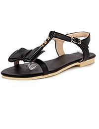 Sandalias Mujer/Sandalia con Pulsera para Mujer/Pajarita Verano Zapatos de Mujer con una Base Plana Estudiantes...