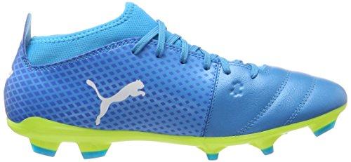 Puma One 17.3 FG, Chaussures de Football Homme Bleu (Atomic Blue- White-safety Yellow)