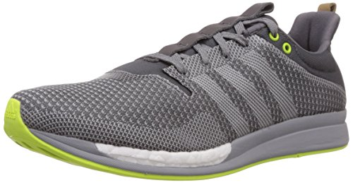 adidas Men's Adizero Feather Boost M Grey and Off White Mesh Running Shoes - 11 UK  available at amazon for Rs.6299