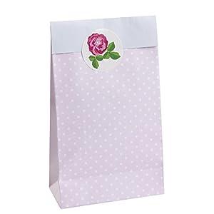 Neviti 596393 Vintage Rose - Bolsas para fiestas con un diseño vintage de rosas