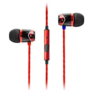 SoundMAGIC E10S In Ear Isolating Earphones with Mic - Black & Red